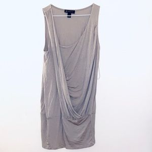 INC rose gray blush sleeveless top blouse NWT sz L